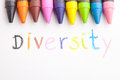 Diversity the word handwritten by a child concept of education Stock Photo