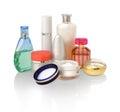 Diversos cosméticos para el cuidado de piel Imagenes de archivo