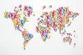 Diverstiy people concept world map Stock Images