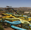 Divertimento di waterpark nel deserto Immagine Stock