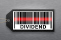 Dividend barcode with stainless steel background Royalty Free Stock Photo