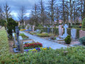 Divine colorful graveyard Royalty Free Stock Image