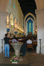 Divine sacred service in a cathedral church singapore jun saint andrews it is the country s largest Royalty Free Stock Photo