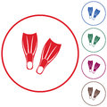 Diving flippers icon