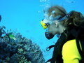 Diving girl Royalty Free Stock Image