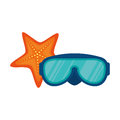 diving glasses isolated icon Royalty Free Stock Photo