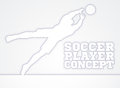 Diving Goal Keeper Silhouette Soccer Player Royalty Free Stock Photo