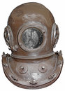 Diving helmet old isolated on white background Royalty Free Stock Photos