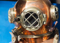 Diving helmet retro metal shot Stock Photos