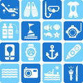 Diving icons this is a collection of different related with Stock Photos