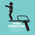 Diving springboard sign vector illustration Stock Images