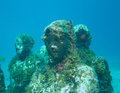 Diving at the underwater museum cancun off coast of mexico Stock Image