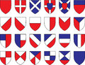 Divisions of the shield vector illustration Royalty Free Stock Photography