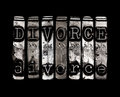Divorce concept with typed word Royalty Free Stock Image