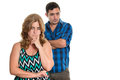 Divorce, Conflicts in marriage - Sad hispanic couple Royalty Free Stock Photo