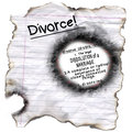 Divorce Definition Burned Edges Royalty Free Stock Photo