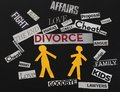 Divorce messages Royalty Free Stock Photo