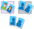 Divorce pic Royalty Free Stock Photography