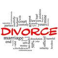 Divorce Word Cloud Concept Scribble in Red Royalty Free Stock Images