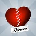 Divorced illustration of just sign Stock Images