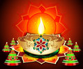Diwali backgroud with cracker vector illustration Stock Photography