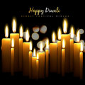 Diwali candles happy design with Stock Images