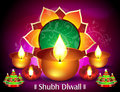 Diwali card design vector illustration Stock Image