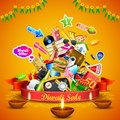 Diwali festive offer illustration of for holiday Stock Photo