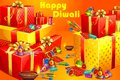 Diwali gift vector illustration of and firecracker for Stock Photos