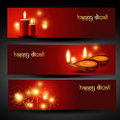 Diwali headers Royalty Free Stock Photography