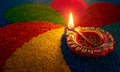 Diwali oil lamp Royalty Free Stock Photo