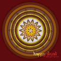 Diwali rangoli culture art colorful pattern ornament illustration Stock Images