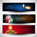 Diwali Website headers or banners. Stock Images