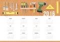 Diy calendar 2016