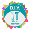 DIY Do It Yourself Colorful Abstract Shapes Circular