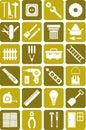 DIY tools icons Royalty Free Stock Photo
