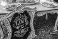 Diy wedding love is sweet hand written sign Stock Images