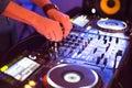 DJ behind the turntable