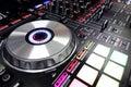 DJ console Royalty Free Stock Photo