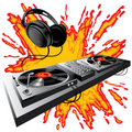 DJ control panel Stock Images