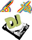Dj flayer or cd Royalty Free Stock Photos