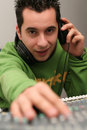 DJ at the mixer board Royalty Free Stock Image