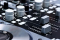 DJ mixer controller Royalty Free Stock Photo