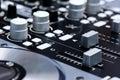 DJ mixer controller Royalty Free Stock Photo