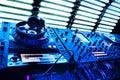 Dj mixer with headphones Royalty Free Stock Photo