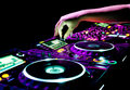 Dj mixes the track Royalty Free Stock Image