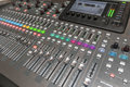Dj mixeta profesional studio equipment for sound mixing Royalty Free Stock Photography
