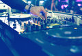 Stock Images DJ mixing desk at party