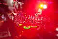 Dj mixing in night club Stock Photo