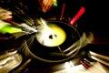 DJ PLATE Royalty Free Stock Photo